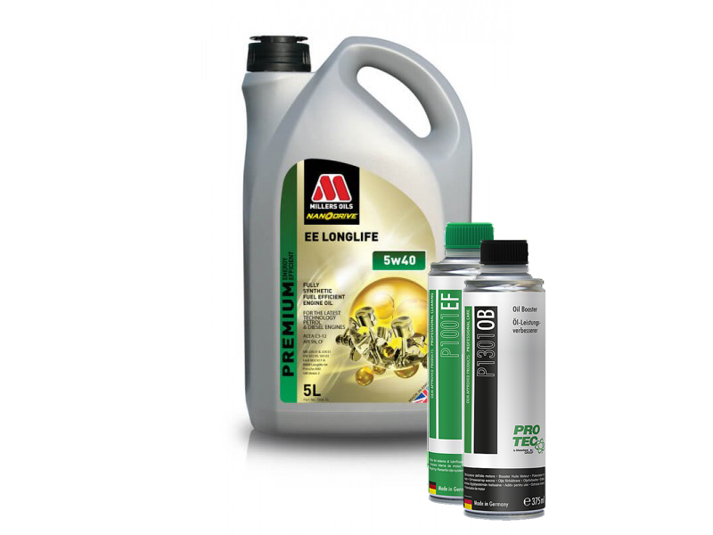 Millers Oils Nanodrive EE LongLife 5W-40 5 l + Engine Flush a Booster PRO-TEC